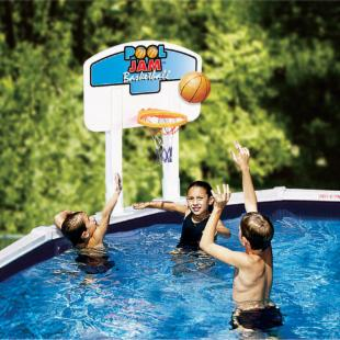 Splashnet Xpress Pool Jam Above Ground Volleyball/Basketball Combo