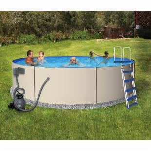 Swim Time Round Rugged Steel Pool Package