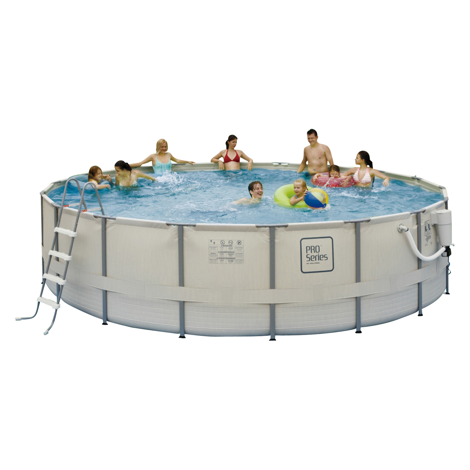 Blue wave pro series metal frame pool package swimming - Pro series frame pool ...