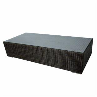 Source Outdoor King Collection All Weather Wicker Coffee Table