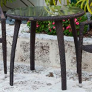 Source Outdoor Tuscana All Weather Wicker Bistro Table