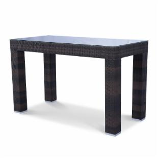Source Outdoor St. Tropez All-Weather Wicker 72 x 40 in. Bar Height Dining Table