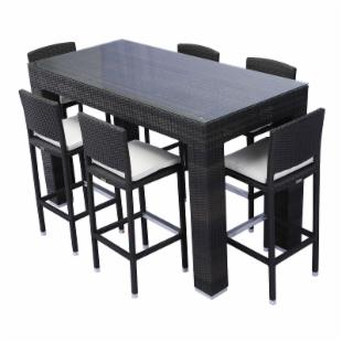 Source Outdoor Bar Height Patio Dining Set - Seats 6