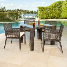  Source Outdoor Matterhorn St. Tropez All-Weather Wicker Patio Dining Set - Seats 4