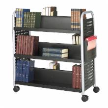  Safco Scoot Double-Sided 6-Shelf Steel Book Cart Bookcase