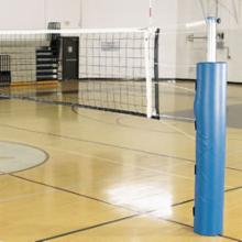  Alumagoal Pro-Power Steel Volleyball Set with Pole Pads and Ground Sleeves