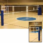  Alumagoal UTS Complete Volleyball System with Judge Stand and Pole Pads