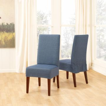 sure fit denim short dining room chair cover chair