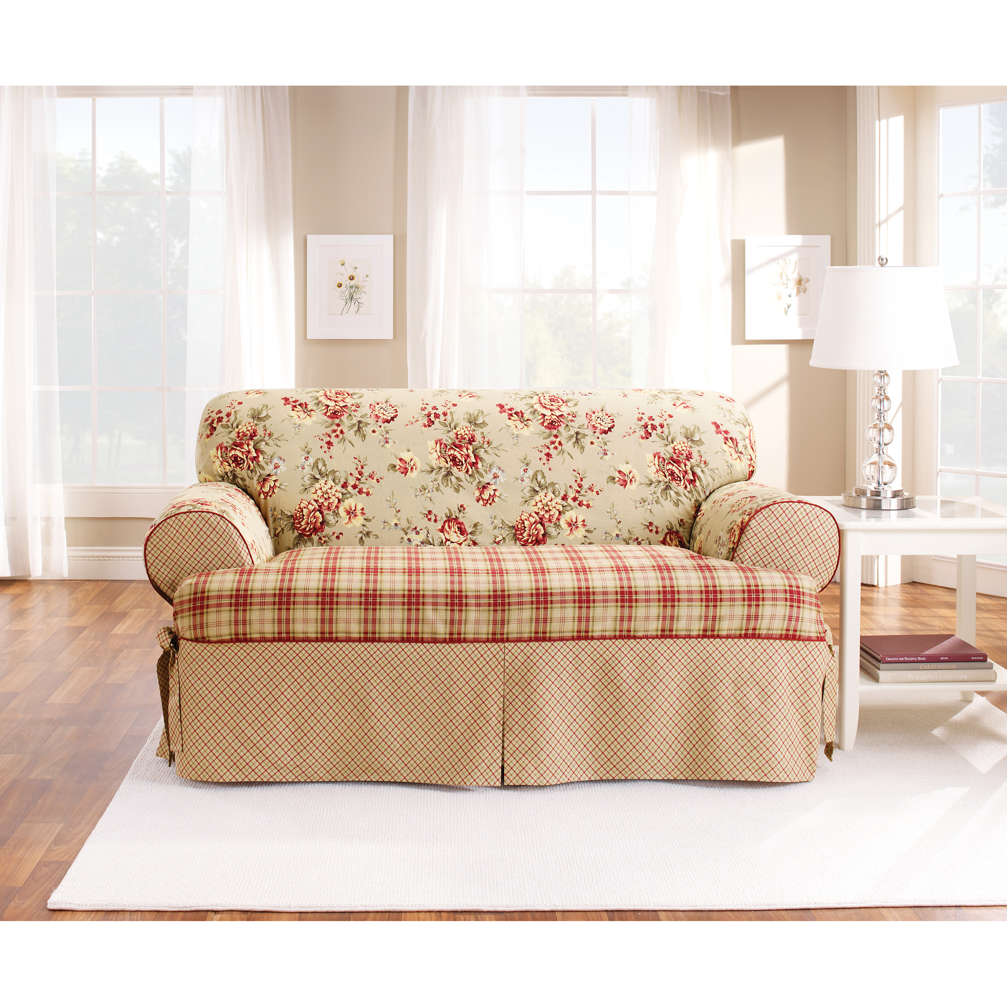 Slipcovers Ashley Furniture: Sure Fit Lexington T-Cushion One Piece Loveseat Slipcover