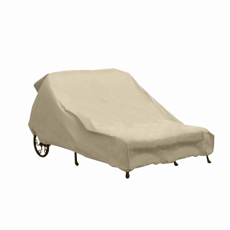 Hearth garden double chaise lounge cover outdoor for Chaise lounge cover