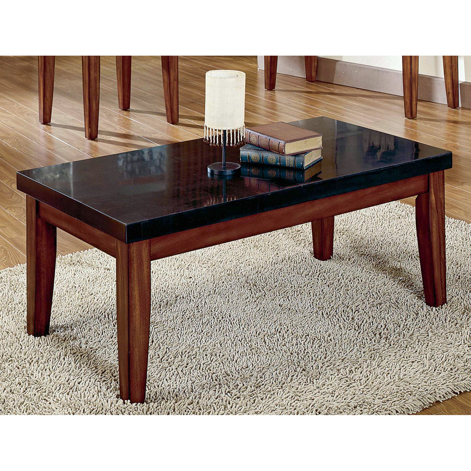 Steve silver montibello granite top coffee table coffee tables at hayneedle Coffee tables with marble tops