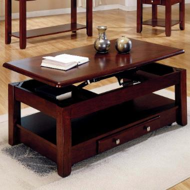  Steve Silver Nelson Lift Top Cocktail Table with Casters - Cherry