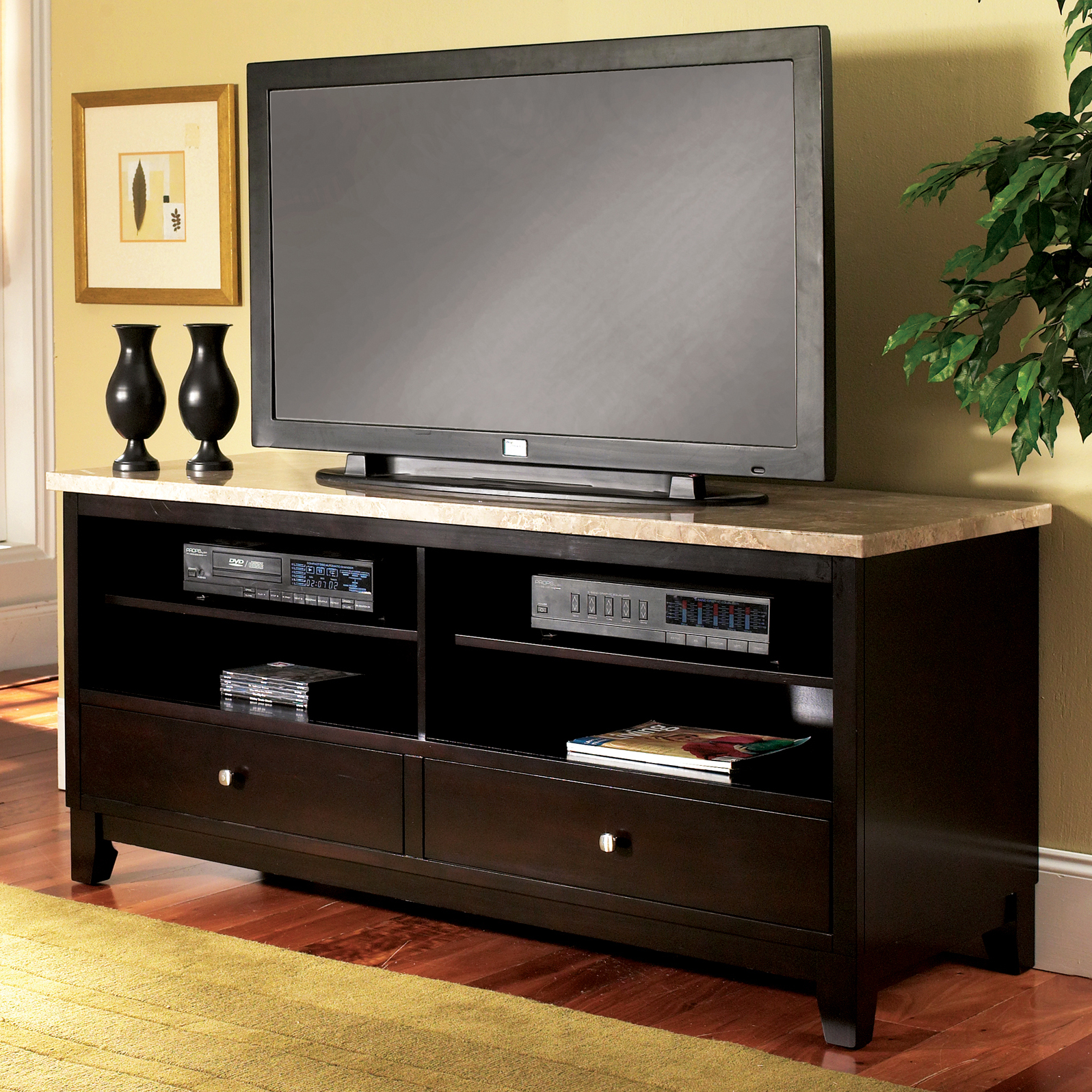 Steve Silver Monarch Marble Top Tv Stand At Hayneedle