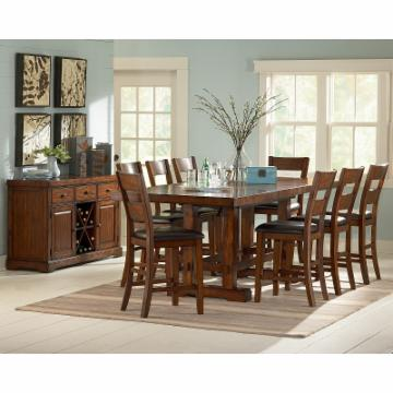 Steve Silver Zappa Counter Height Dining Set Tobacco