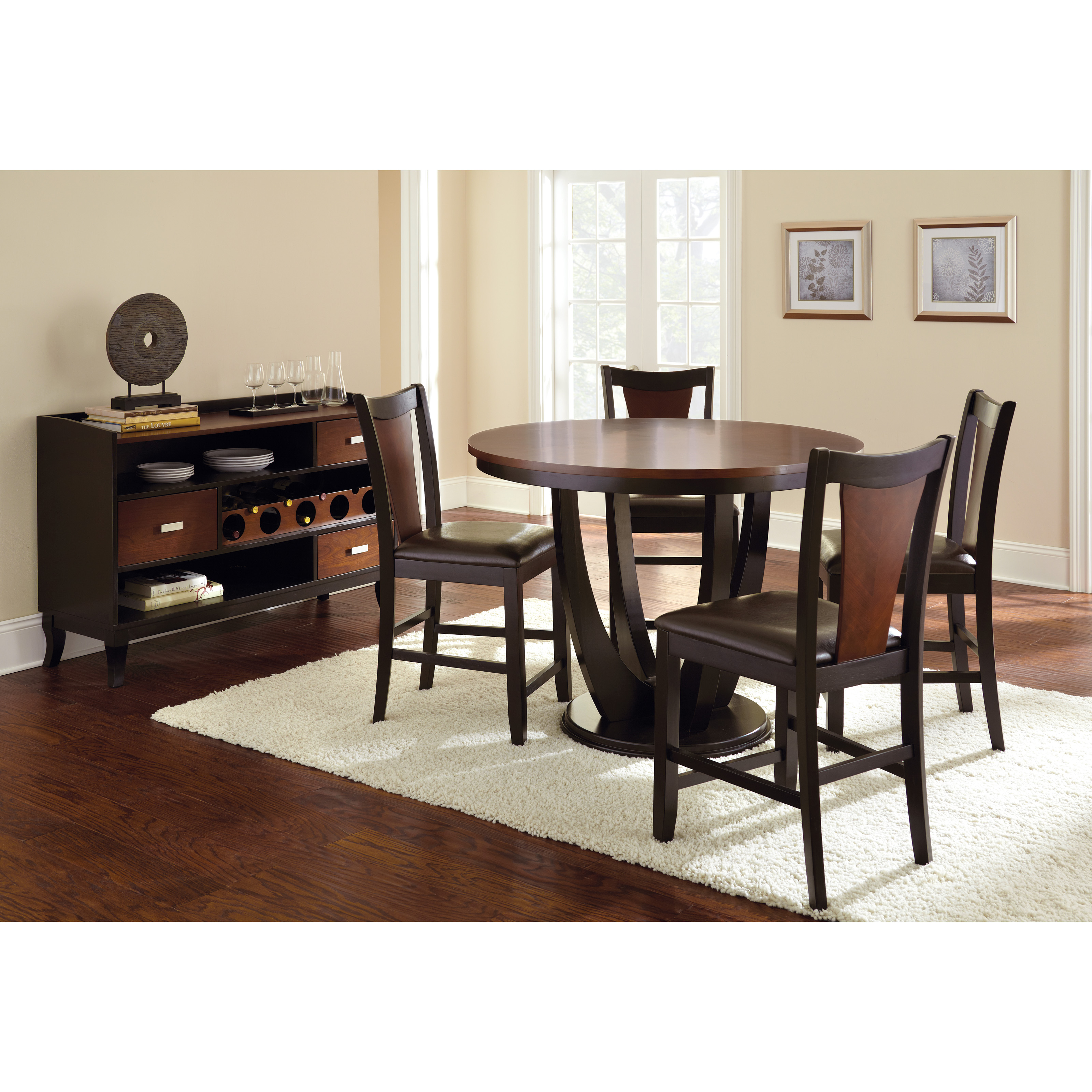 Stanton Counter Height Dining Table In Black: Steve Silver Oakton Counter Height Round Dining Table