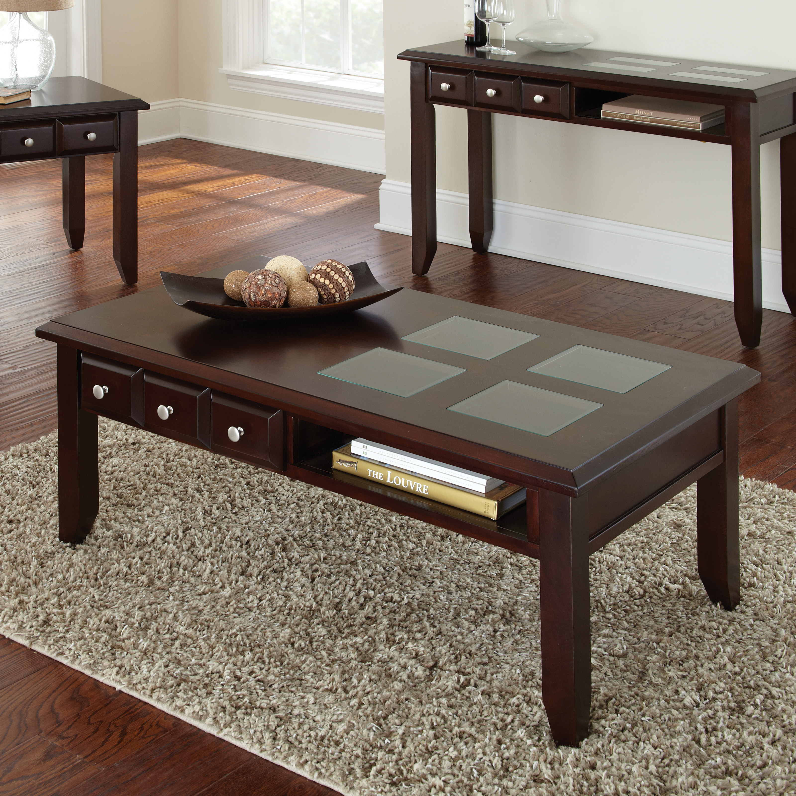 Steve Silver Murphy Rectangle Espresso Wood Coffee Table