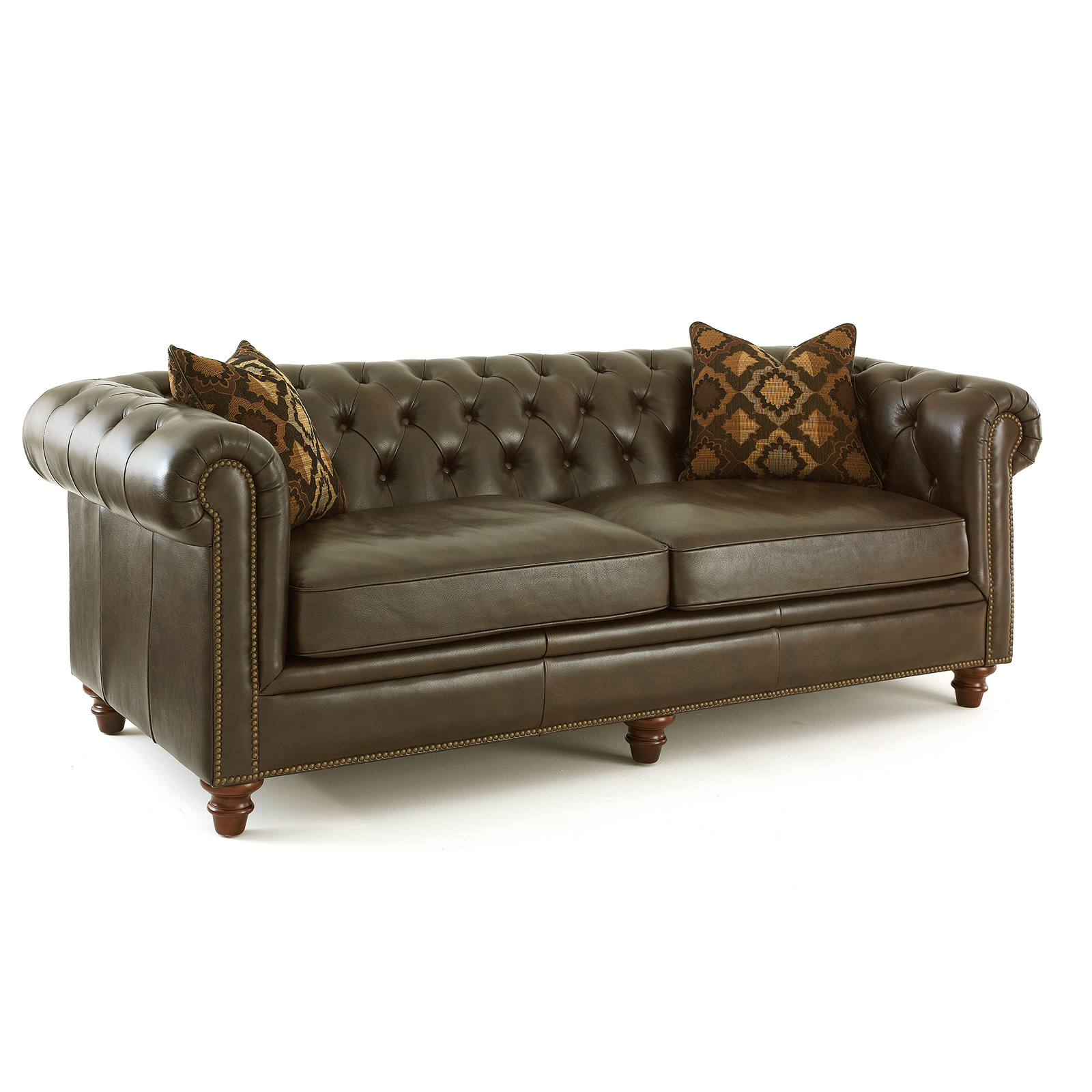 Leather Sofa For Accent Pillows: Steve Silver Tusconny Leather Sofa With 2 Accent Pillows
