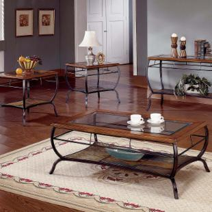Steve Silver Loretta Cherry Coffee Table Set