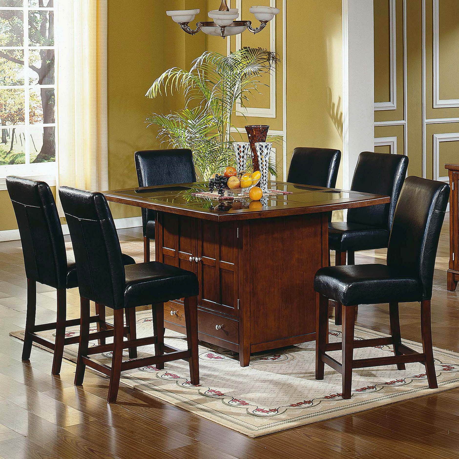 Steve Silver Serena Granite Top 7 Piece Counter Height Set At Hayneedle