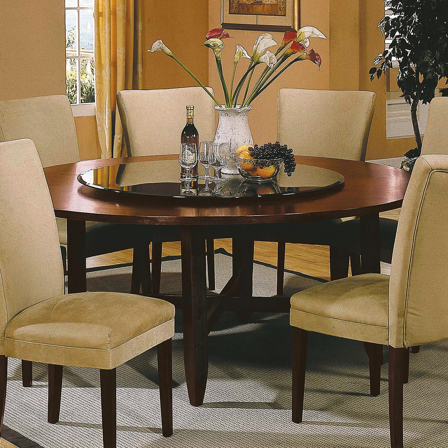 steve silver avenue 72 inch round dining table at hayneedle. Black Bedroom Furniture Sets. Home Design Ideas