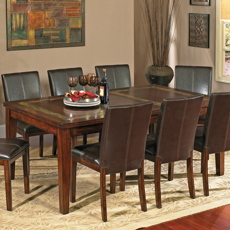 Steve Silver Davenport 7 Piece Slate Dining Table Set At
