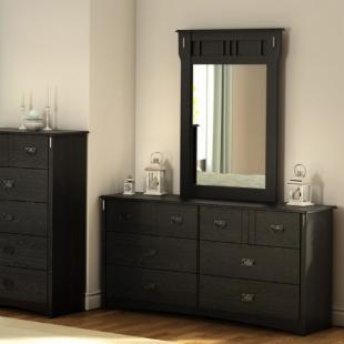 Tryon 6 Drawer Dresser - Black Oak