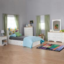  South Shore Valentina Twin Bookcase Bed Collection
