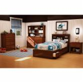  South Shore Willow Twin Mates Bookcase Bed Collection