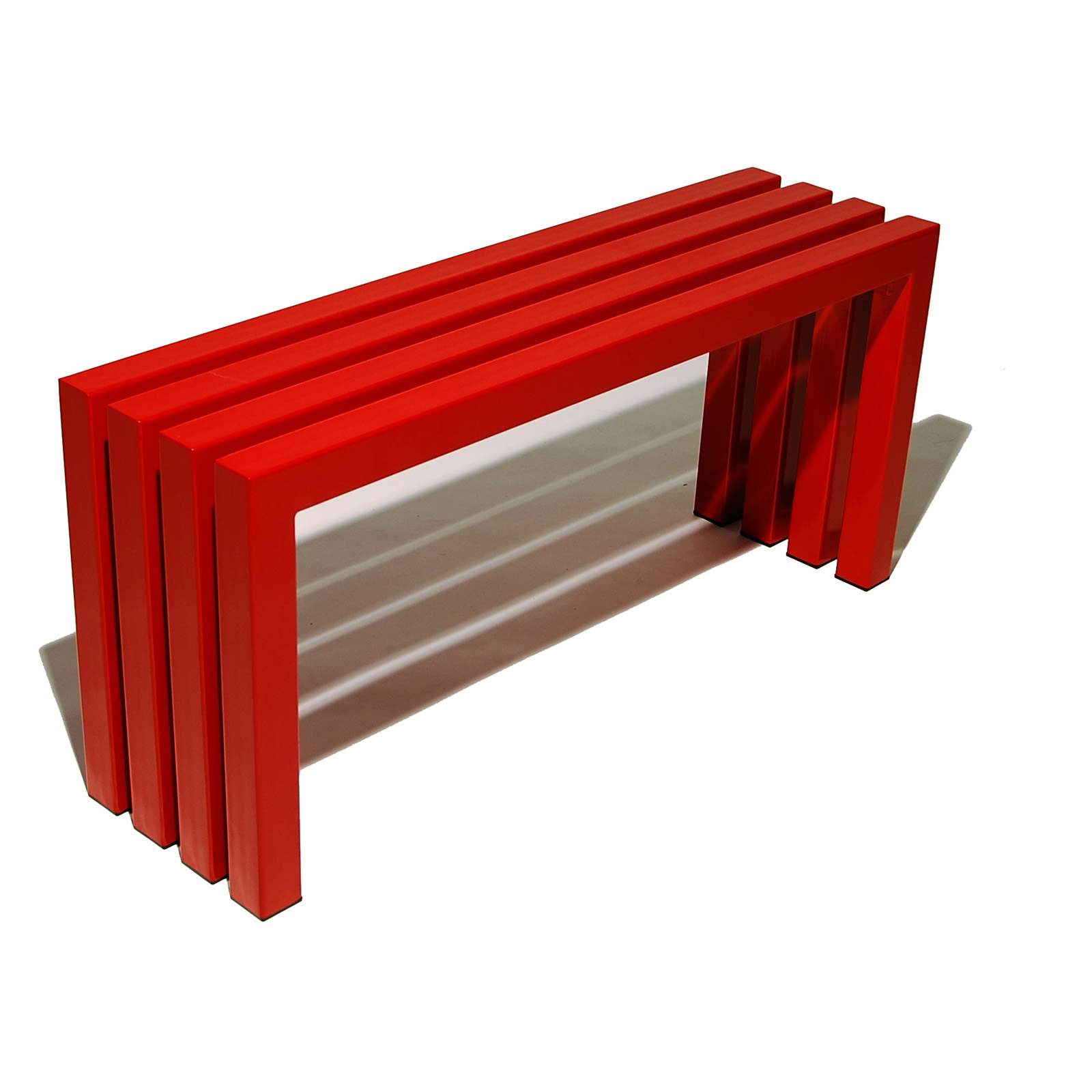 Sarabi Linear Backless Bench Industry Red Indoor Benches At Hayneedle
