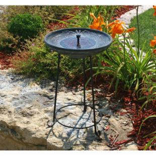 Smart Solar Somerset Verdigris Solar Bird Bath Fountain