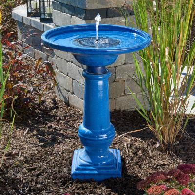 Athena Solar-On-Demand Ceramic Bird Bath Fountain Best Price