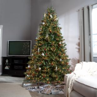 Diamond Fir Full Clear Pre-lit Christmas Tree
