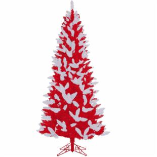 Nebraska Team Medium Unlit Christmas Tree