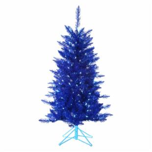 4 ft. Blue Tiffany Tinsel Tree