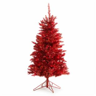 4 ft. Red Tiffany Tinsel Tree