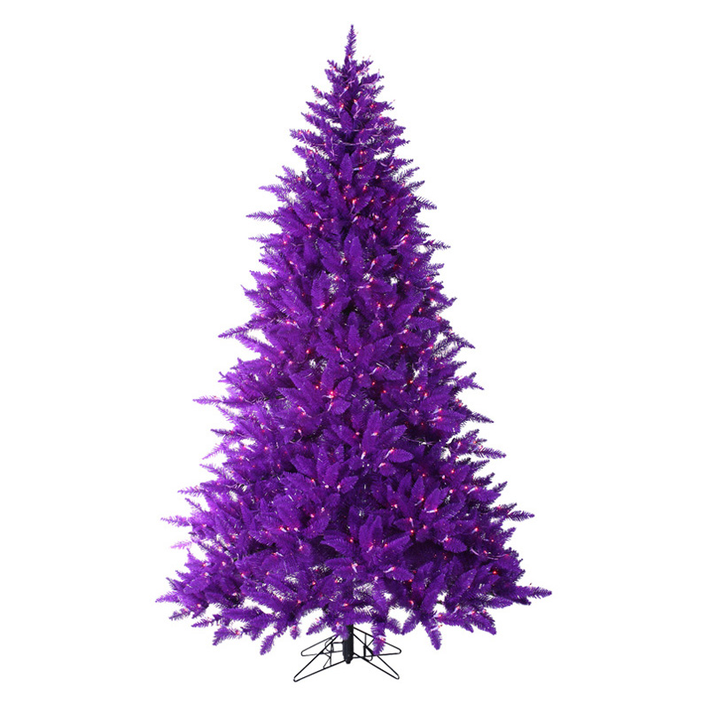 Purple And White Christmas Tree: Purple Ashley Full Pre-Lit Christmas Tree Do Not Use At
