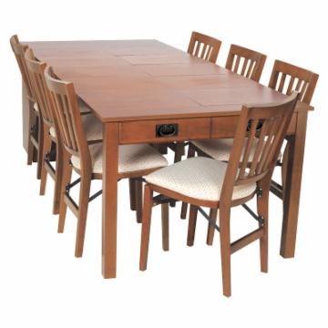 stakmore shaker mission style expanding cabinet dining set at hayneedle. Black Bedroom Furniture Sets. Home Design Ideas