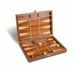 10in Walnut Backgammon Set