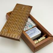  Wood Cribbage Domino Set