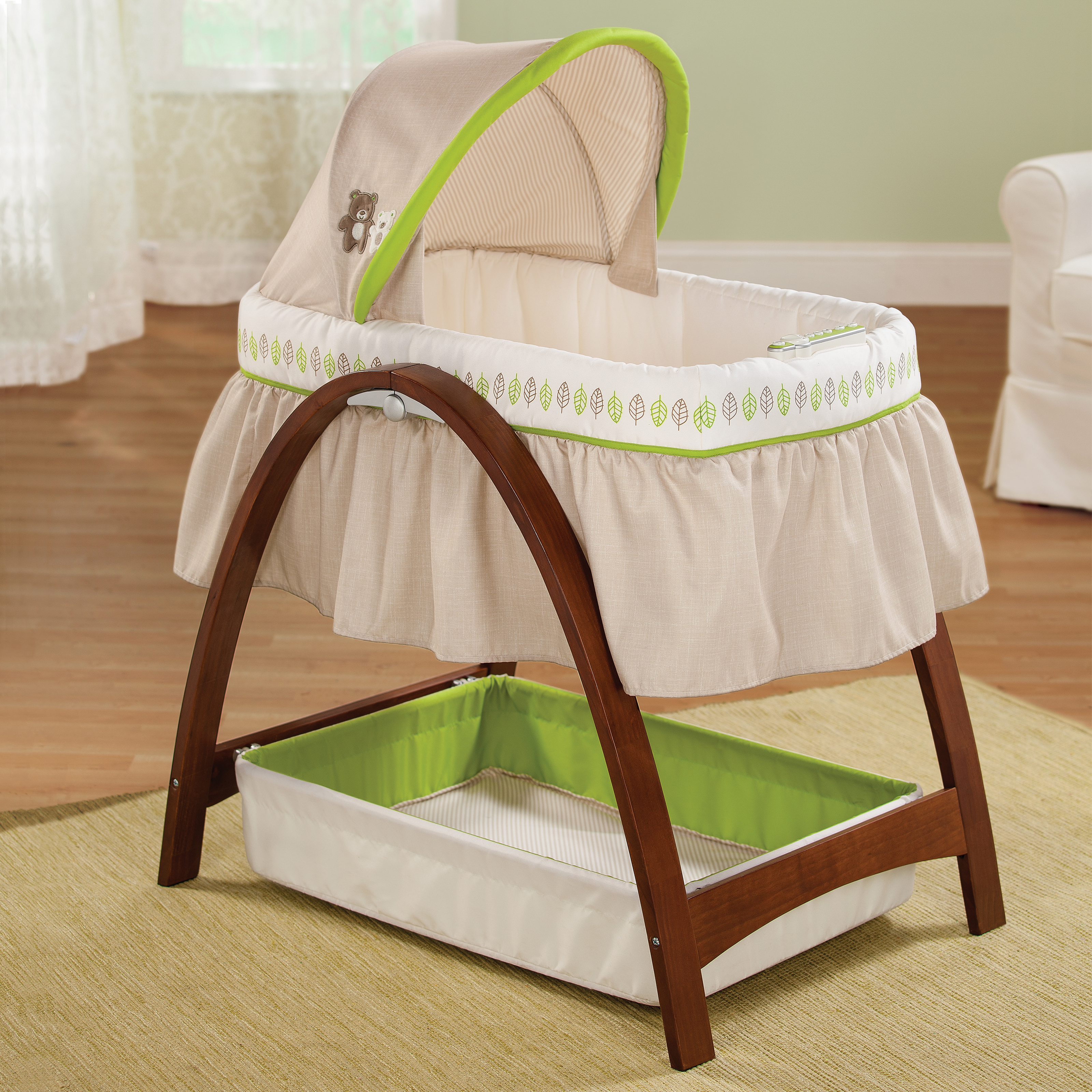 summer infant crib with bassinet  creative ideas of baby cribs - summer infant natures purest hug me soothing comfort bassinet