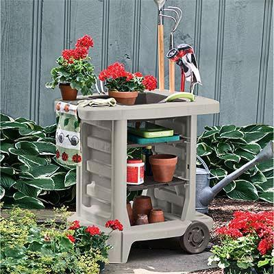 Suncast Dexter Resin Potting Bench