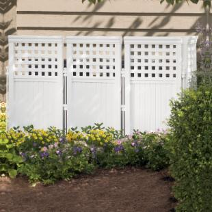 Suncast 3.75-ft. Vinyl Privacy Screen Enclosure