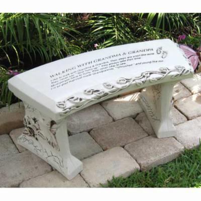 SouthWest Graphix Personalized Grandparents Garden Bench