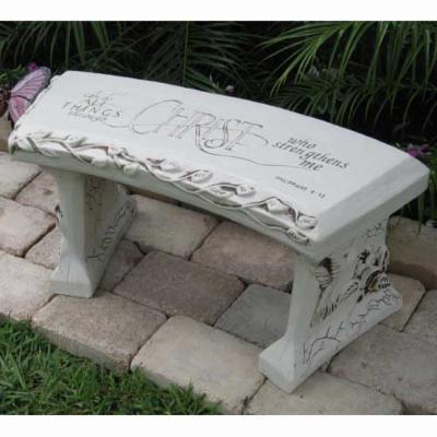SouthWest Graphix Personalized Spiritual Garden Bench