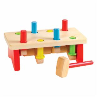 Small World Toys SeeSaw Peg Pounding Bench - 8 Pegs