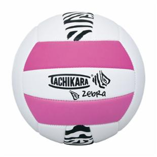 Tachikara SofTec Zebra Volleyball - Pink