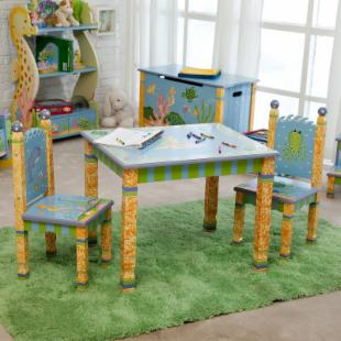 Teamson Kids Under the Sea Table and 2 Chair Set