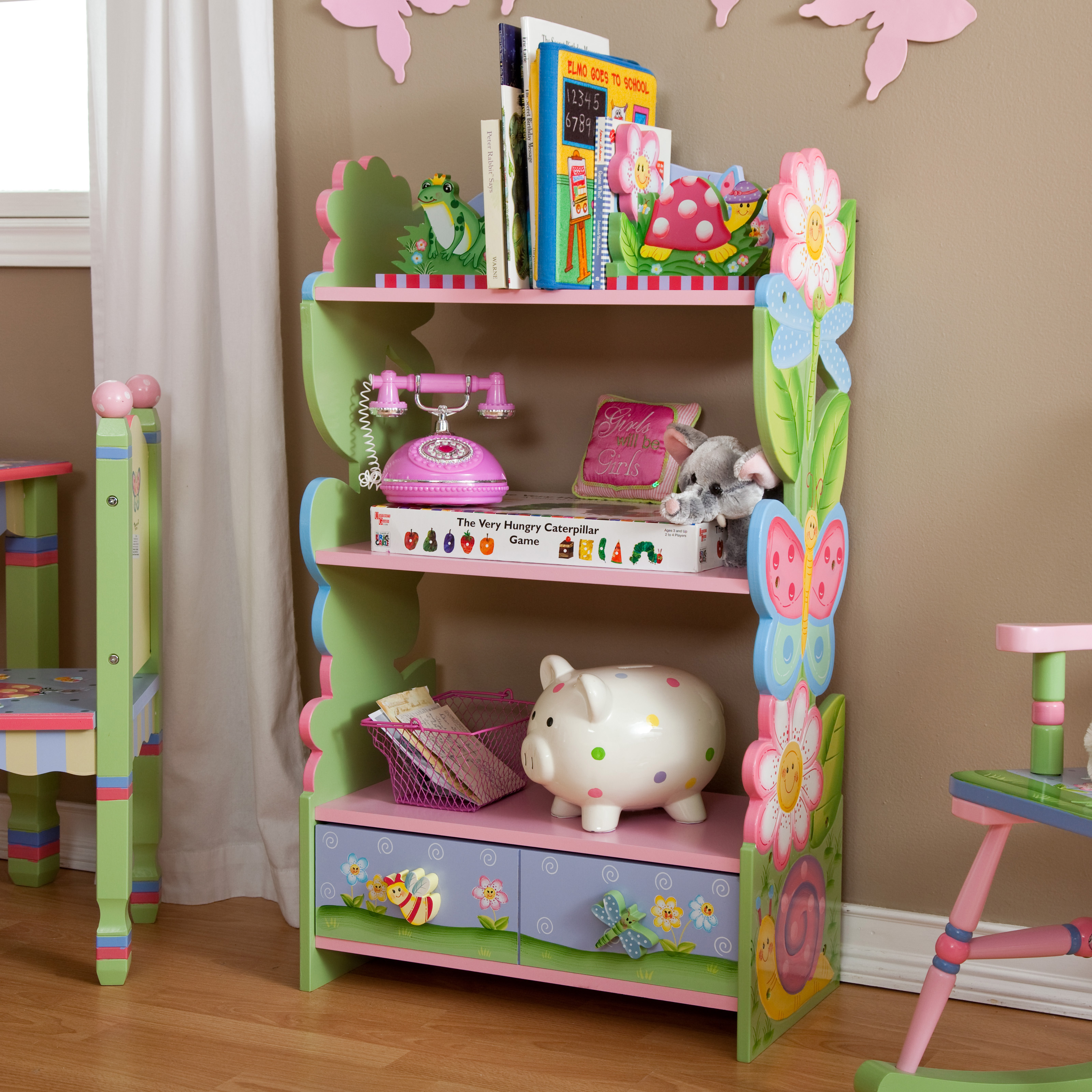Fantasy fields magic garden bookcase kids bookcases at for Book shelf for kids room