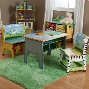 Teamson Kids Sunny Safari Table &amp; 2 Chair Set