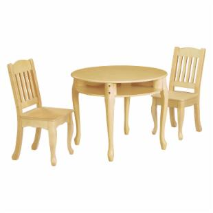 Teamson Kids Childrens Windsor Round Table and Chair Set - Neutral